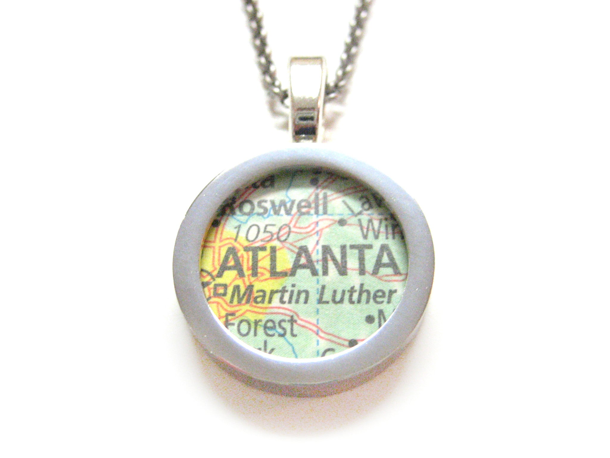 Atlanta Georgia Map Pendant Necklace