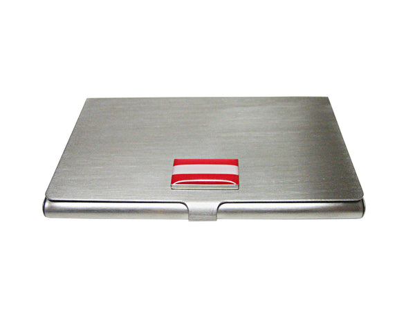 Austria Flag Pendant Business Card Holder