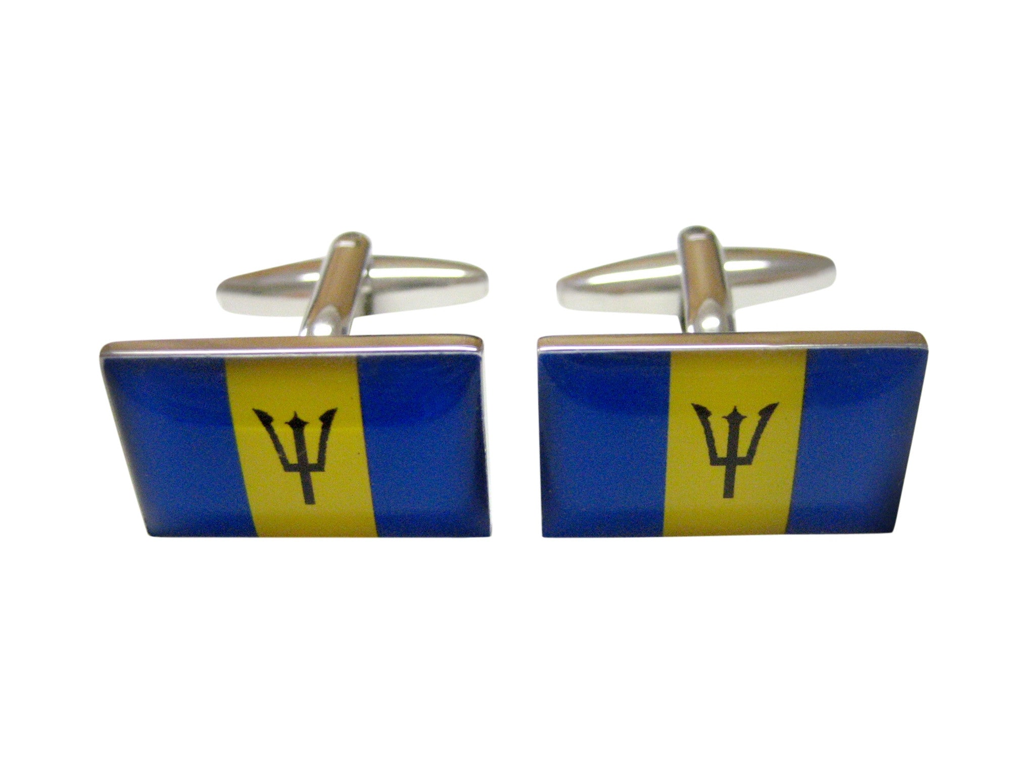 Barbados Flag Cufflinks