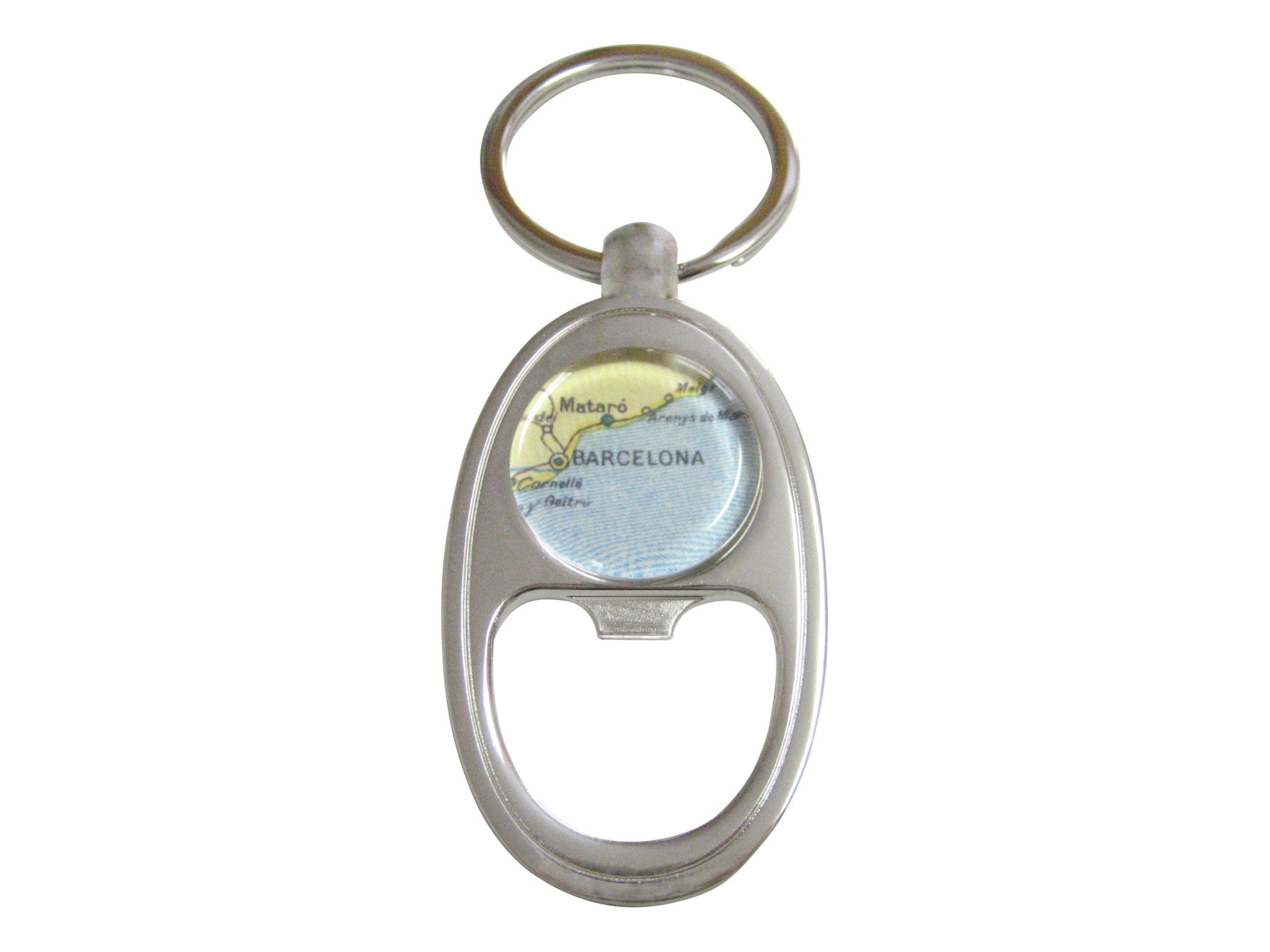Barcelona Map Bottle Opener Key Chain