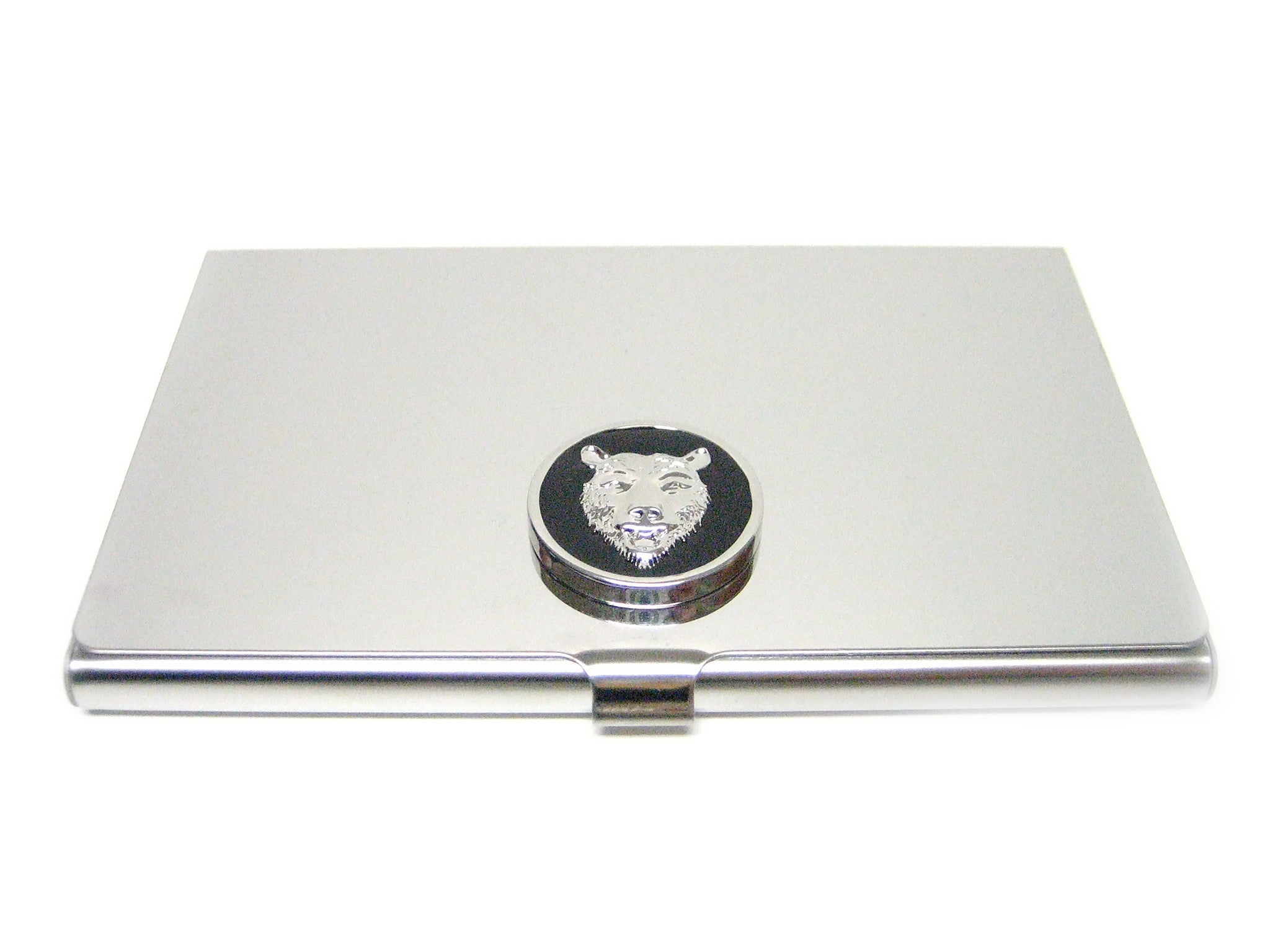 Business Card Holder with Bear Pendant