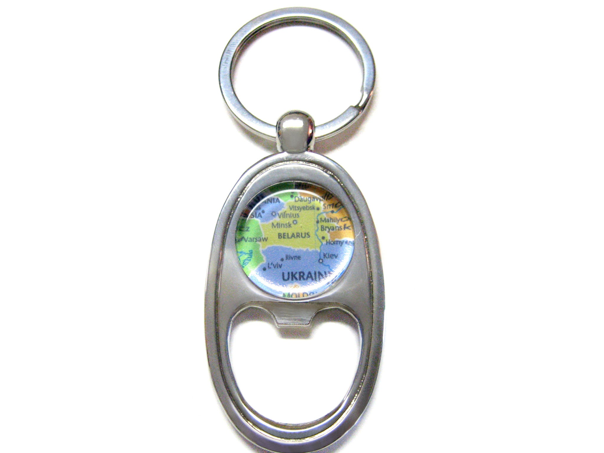 Belarus Map Bottle Opener Key Chain