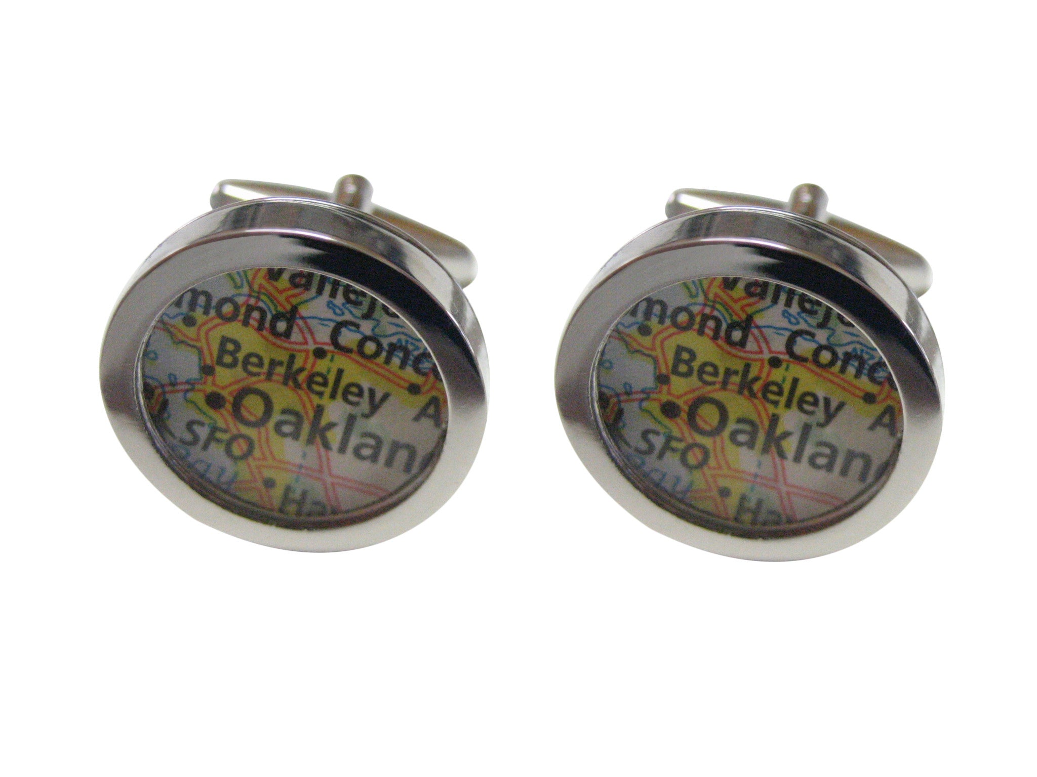 Berkeley California Map Cufflinks
