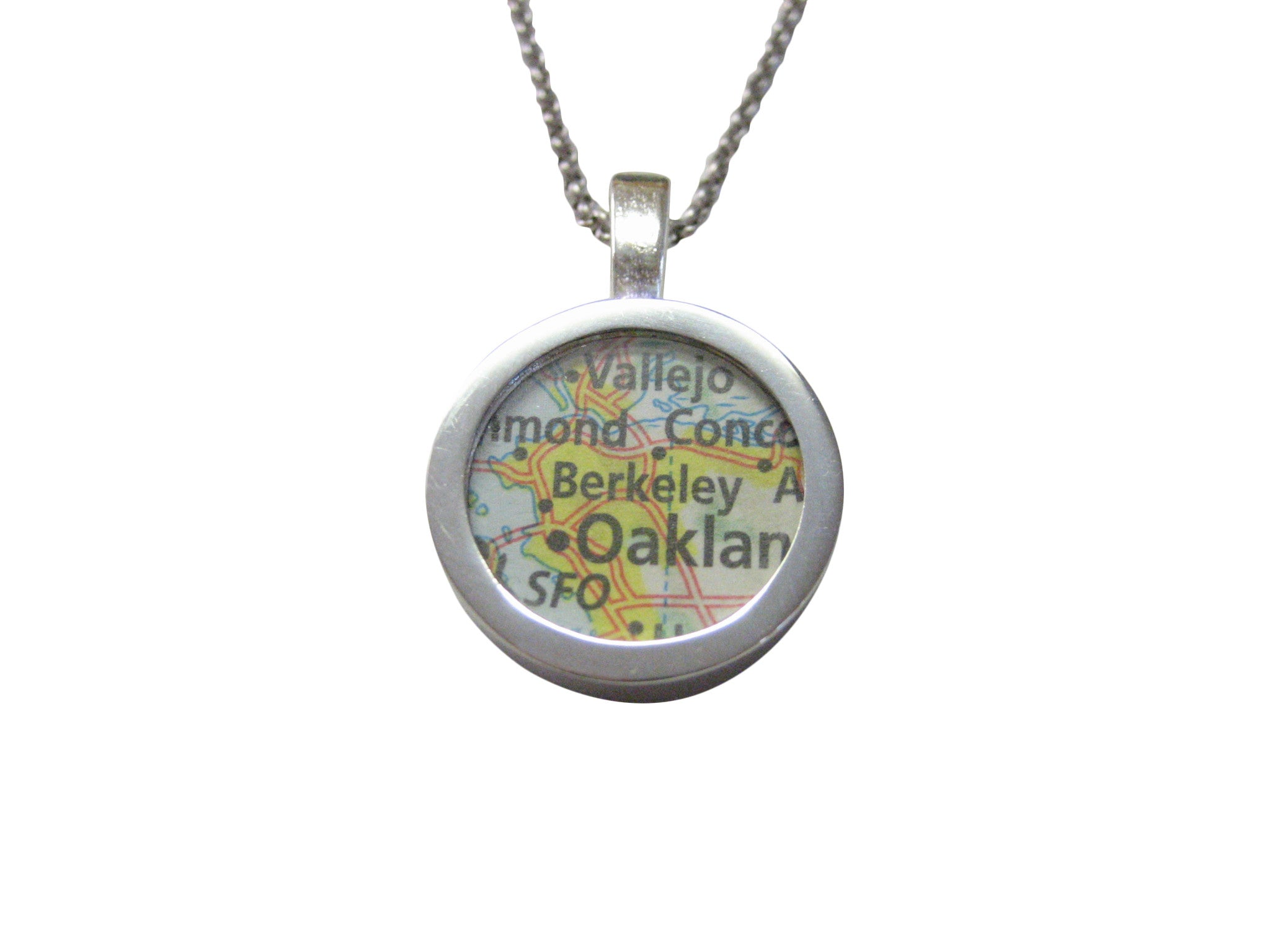 Berkeley California Map Pendant Necklace