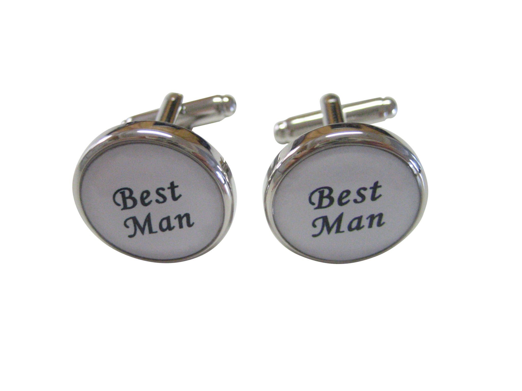 Wedding Best Man Circle Cufflinks