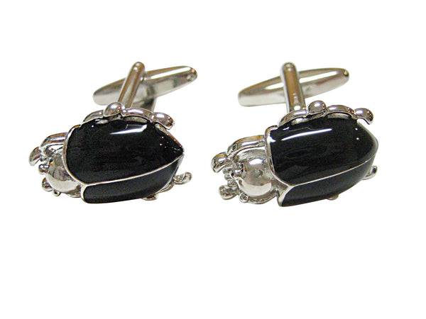 Black Beetle Insect Cufflinks
