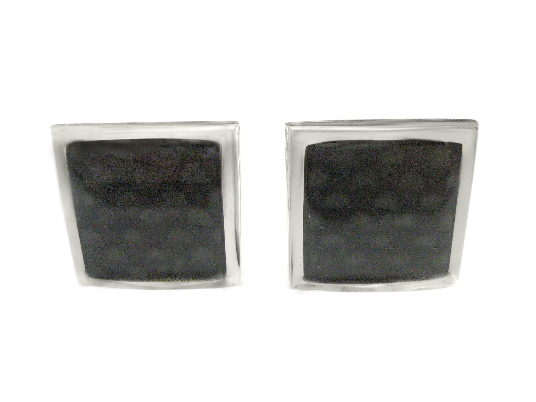 Black Carbon Fiber Design Cufflinks Cufflinks