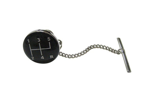Black Gear Shift Tie Tack