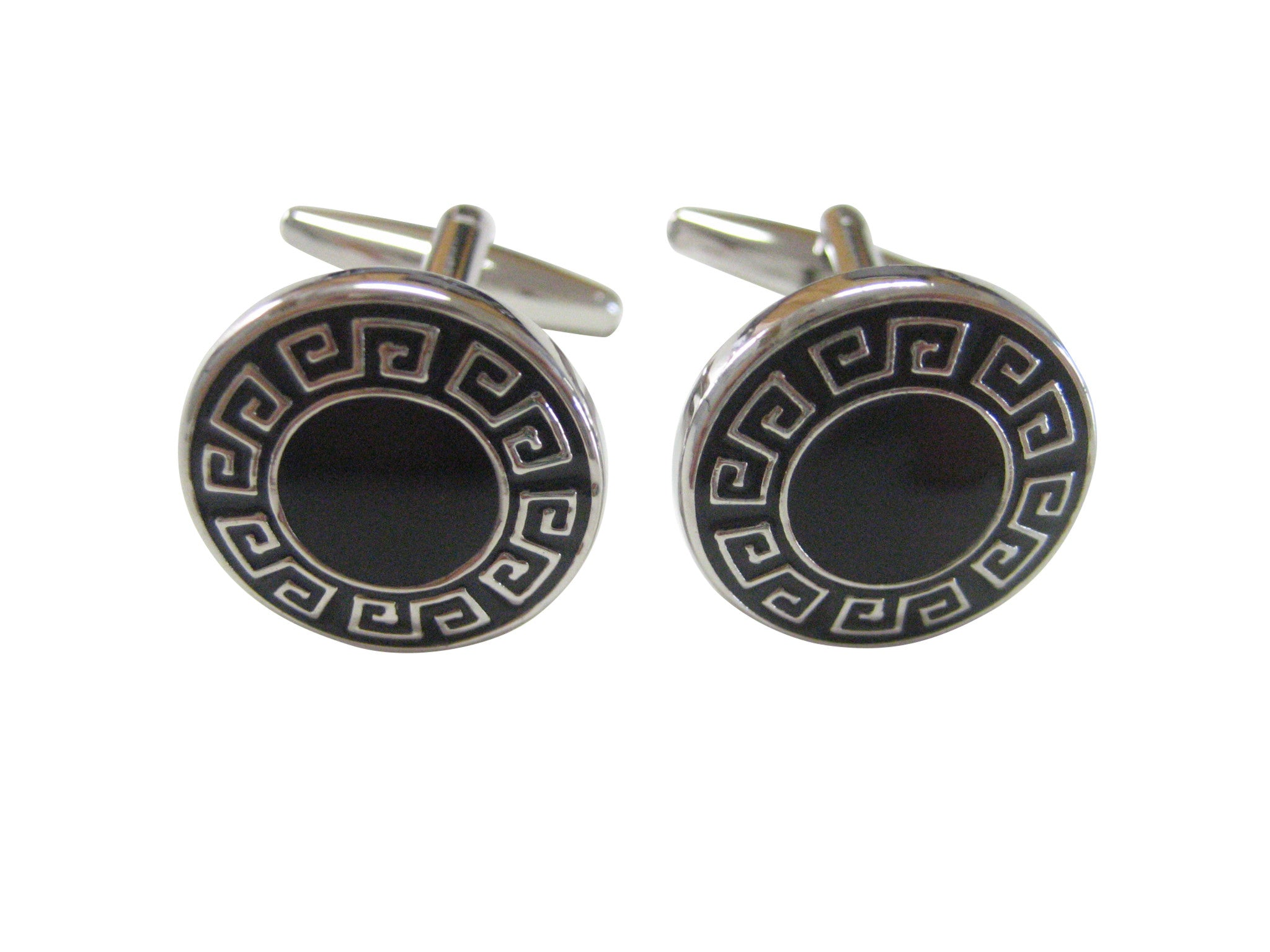 Black Greek Design Cufflinks