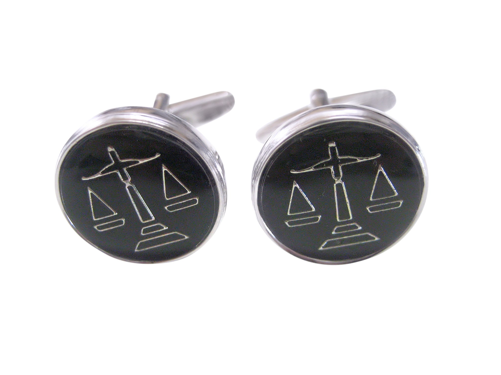 Black Scale of Justice Cufflinks