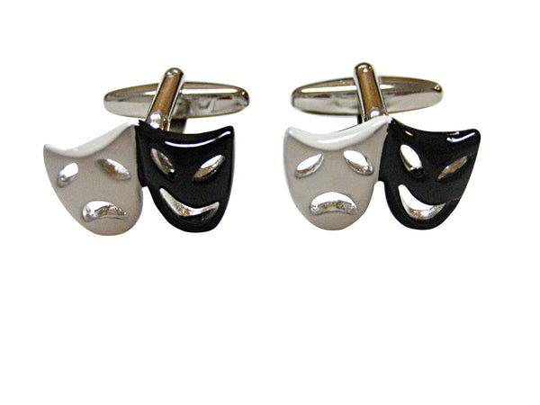 Black and White Drama Mask Cufflinks