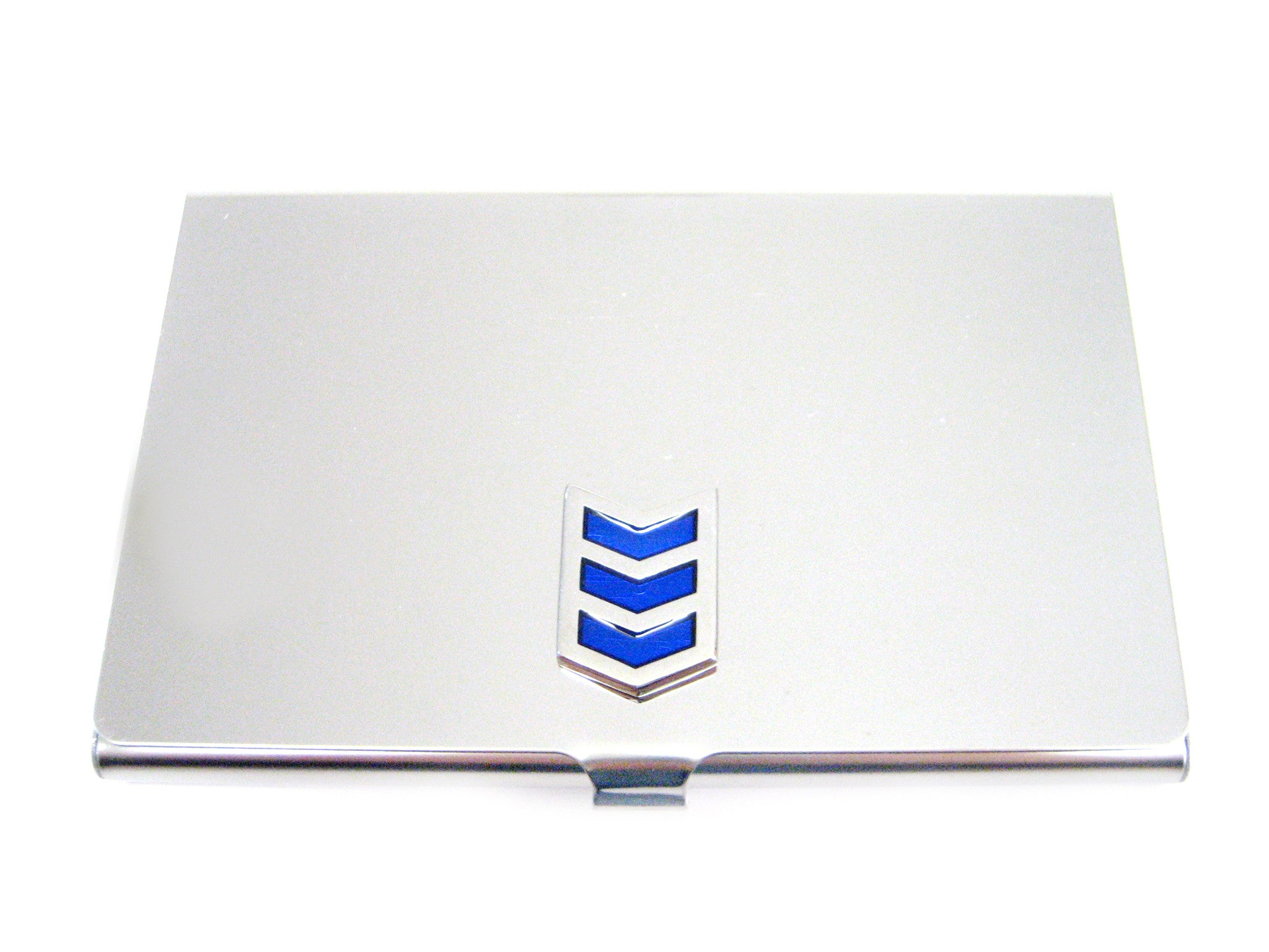 Business Card Holder with Blue Chevron Pendant