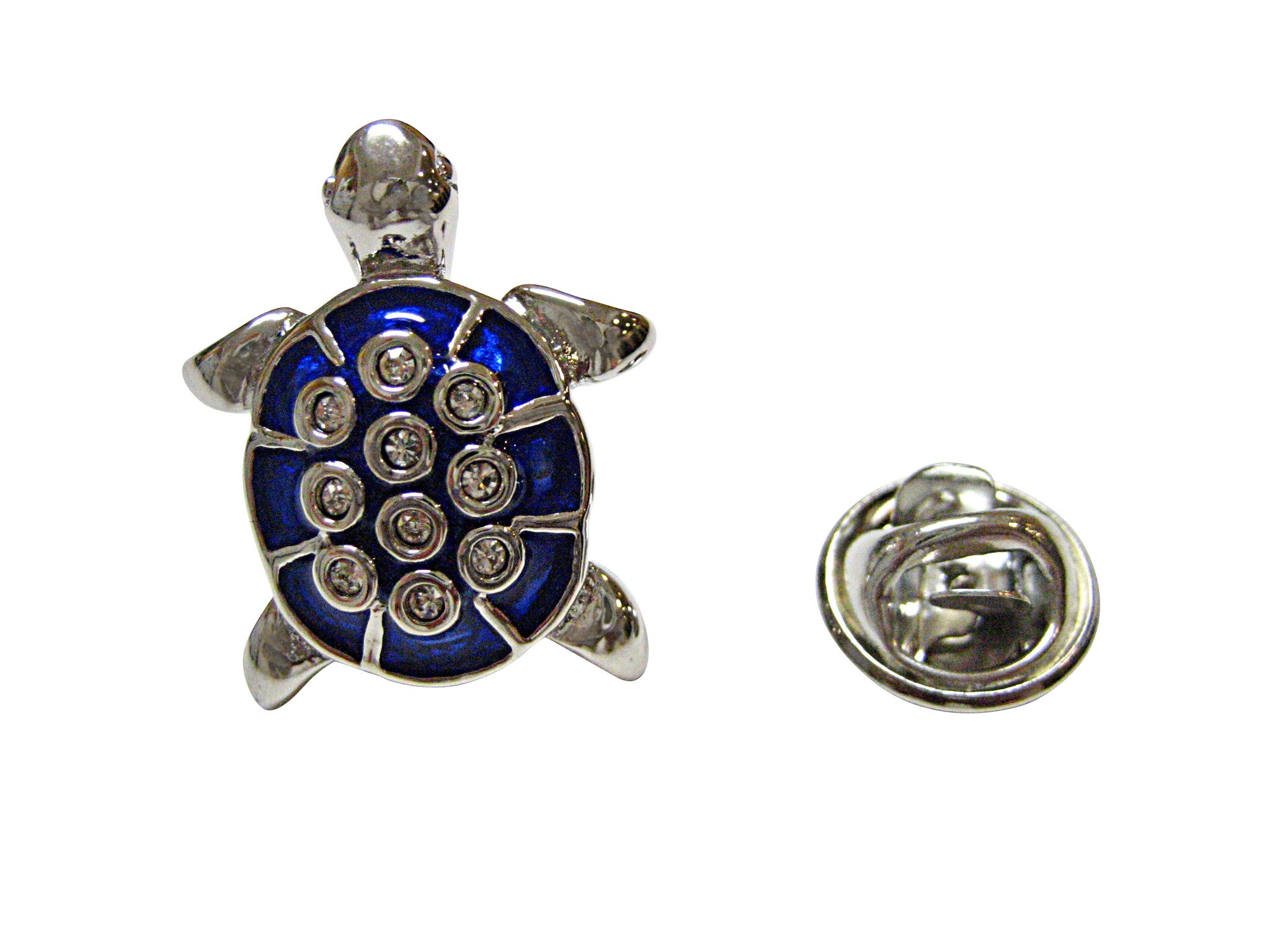 Blue Turtle Tortoise Lapel Pin