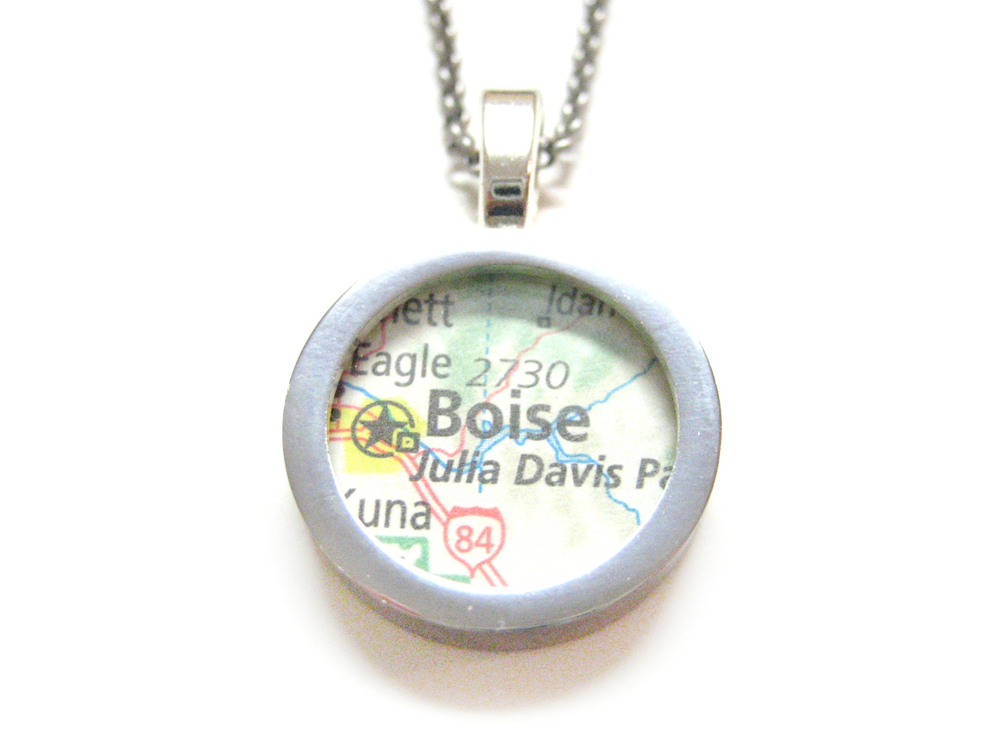 Boise Idaho Map Pendant Necklace