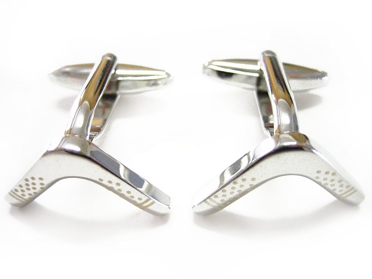 Boomerang Design Cufflinks