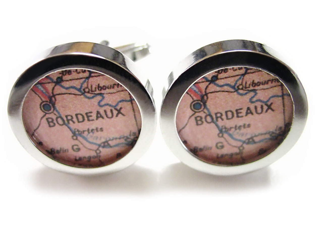 Bordeaux Map Cufflinks