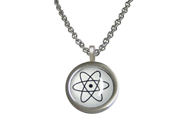 Bordered Atom Pendant Necklace
