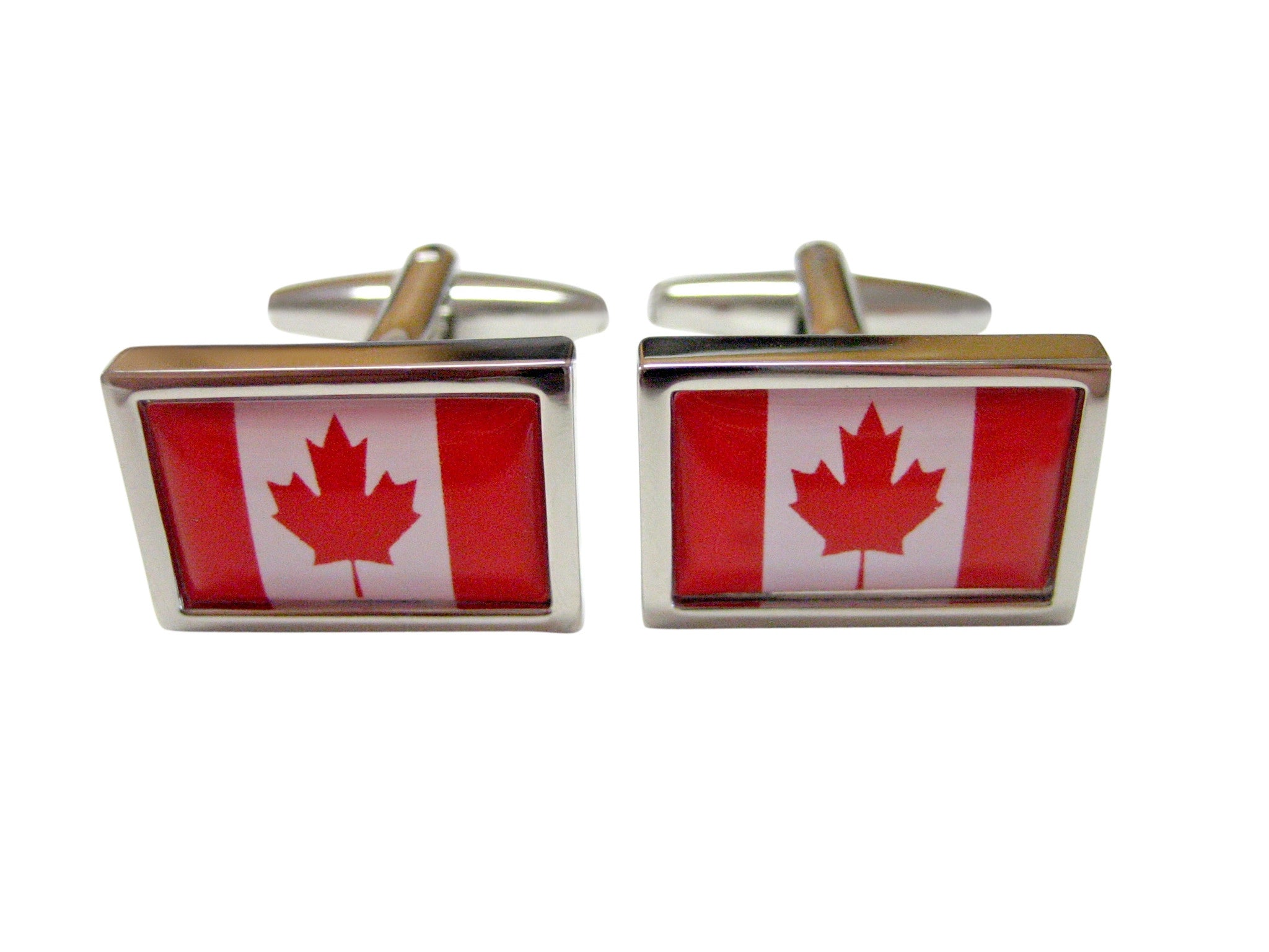 Bordered Canada Flag Cufflinks