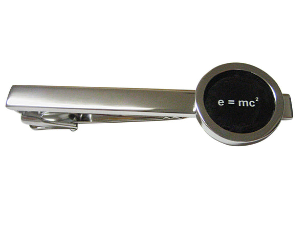 Bordered EMC2 Einstein Square Tie Clip