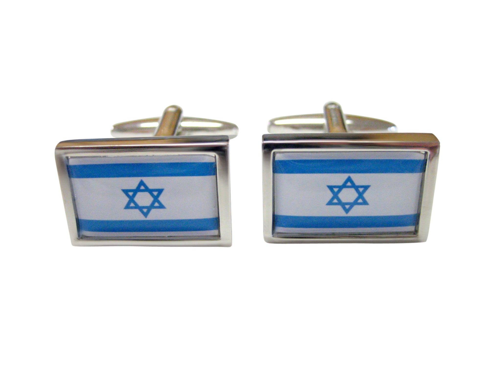 Bordered Israel Flag Cufflinks