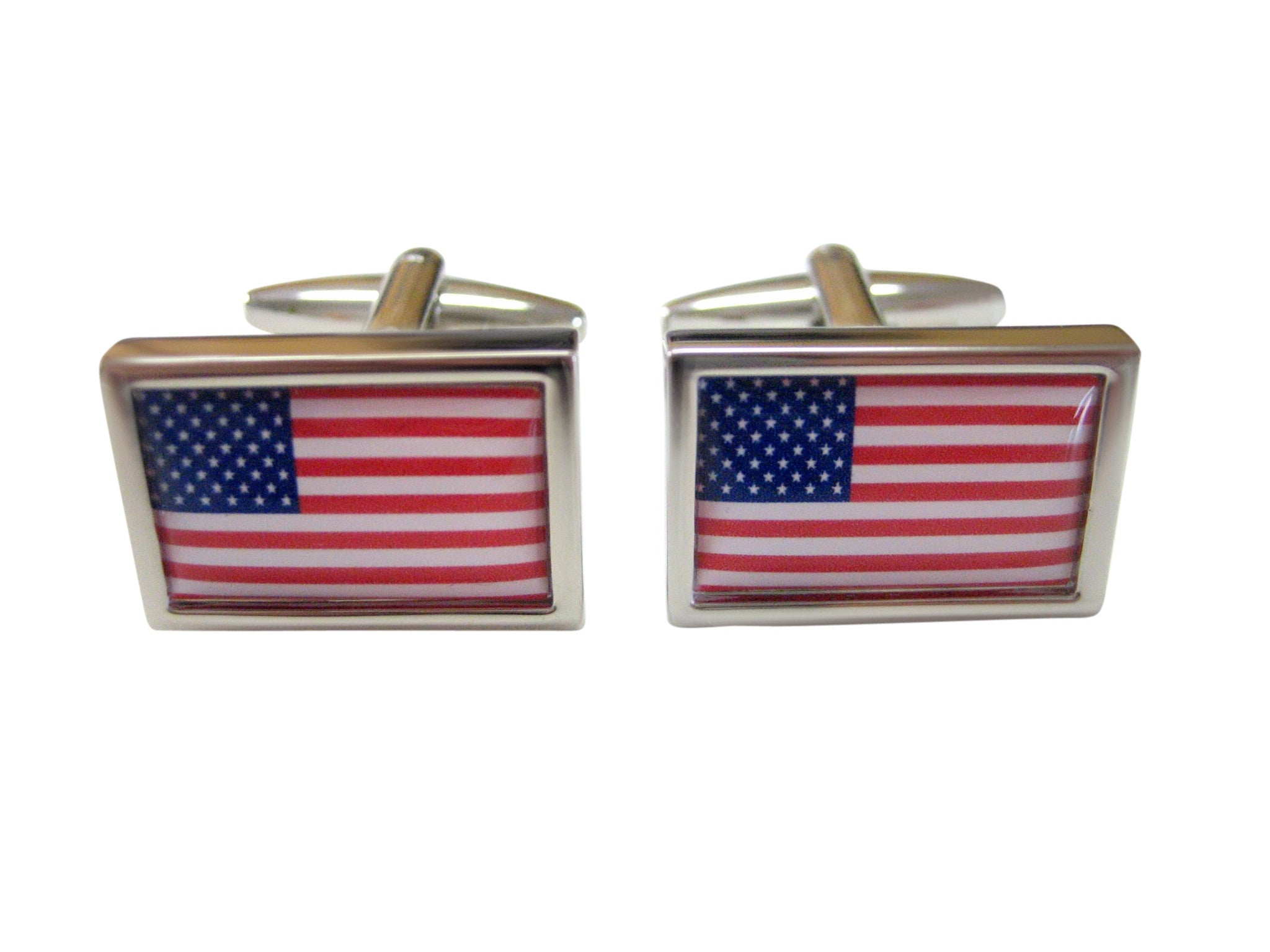 Bordered United States Flag Cufflinks