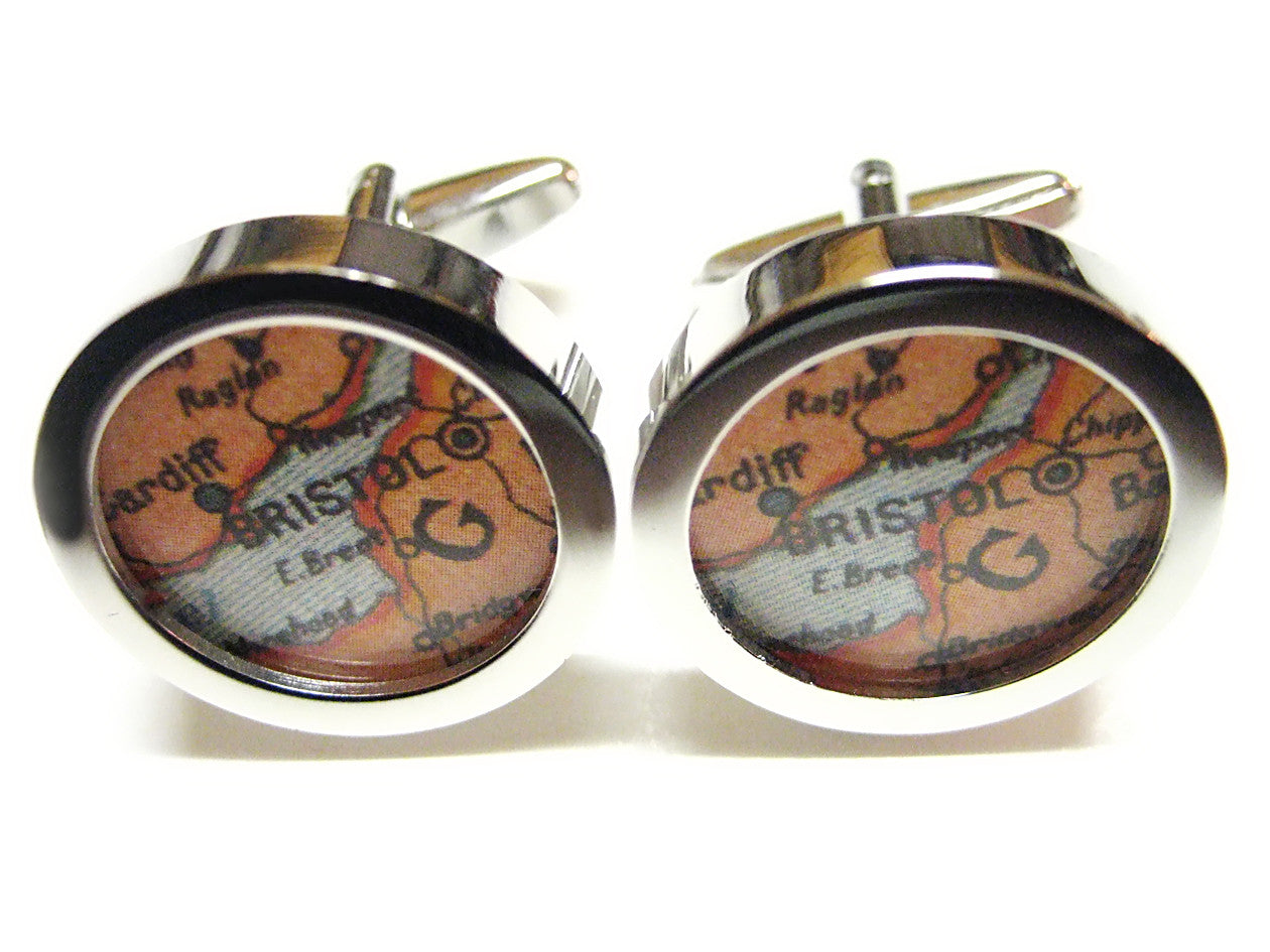 Bristol Map Cufflinks