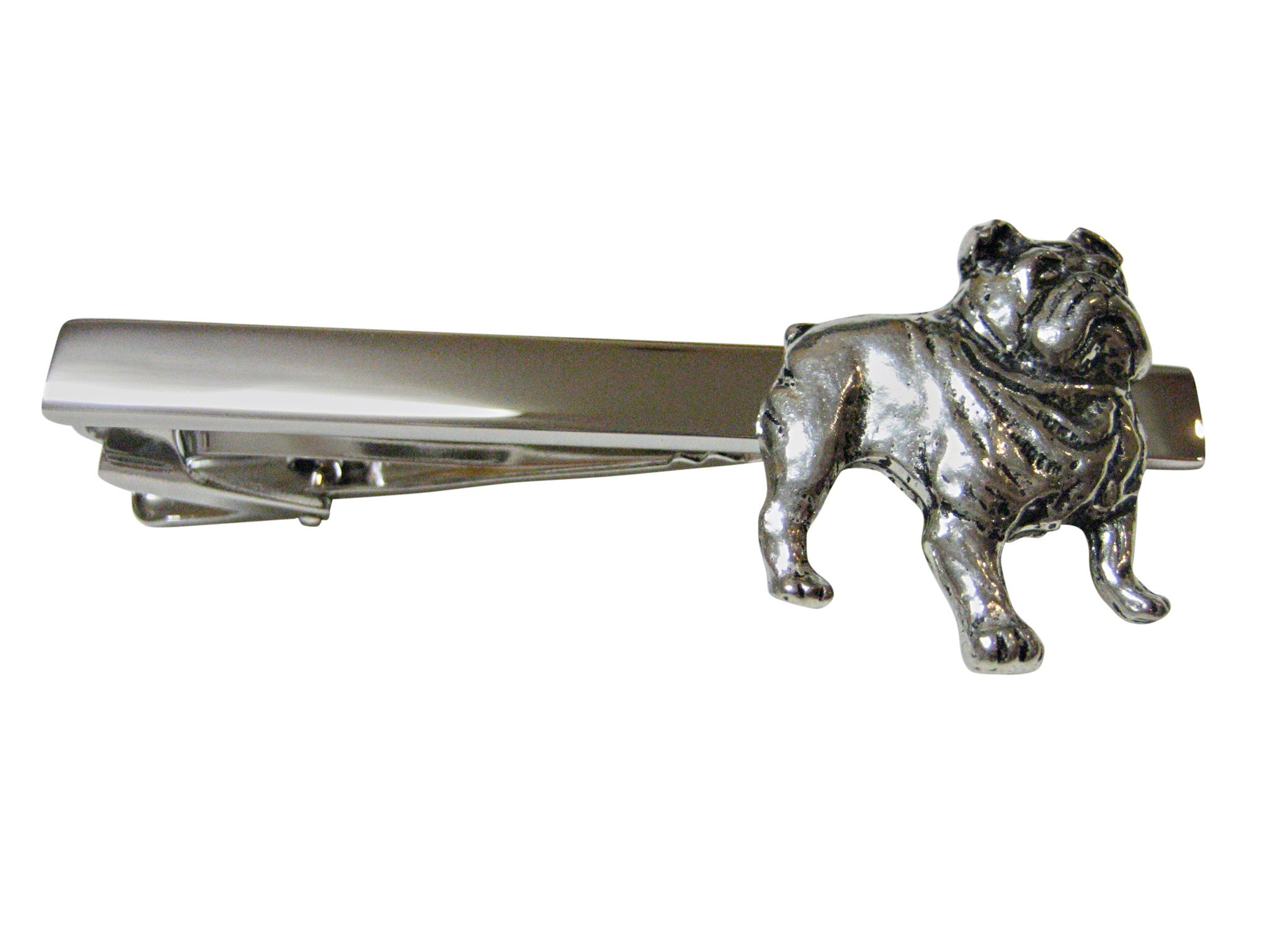 British Bulldog Square Tie Clips
