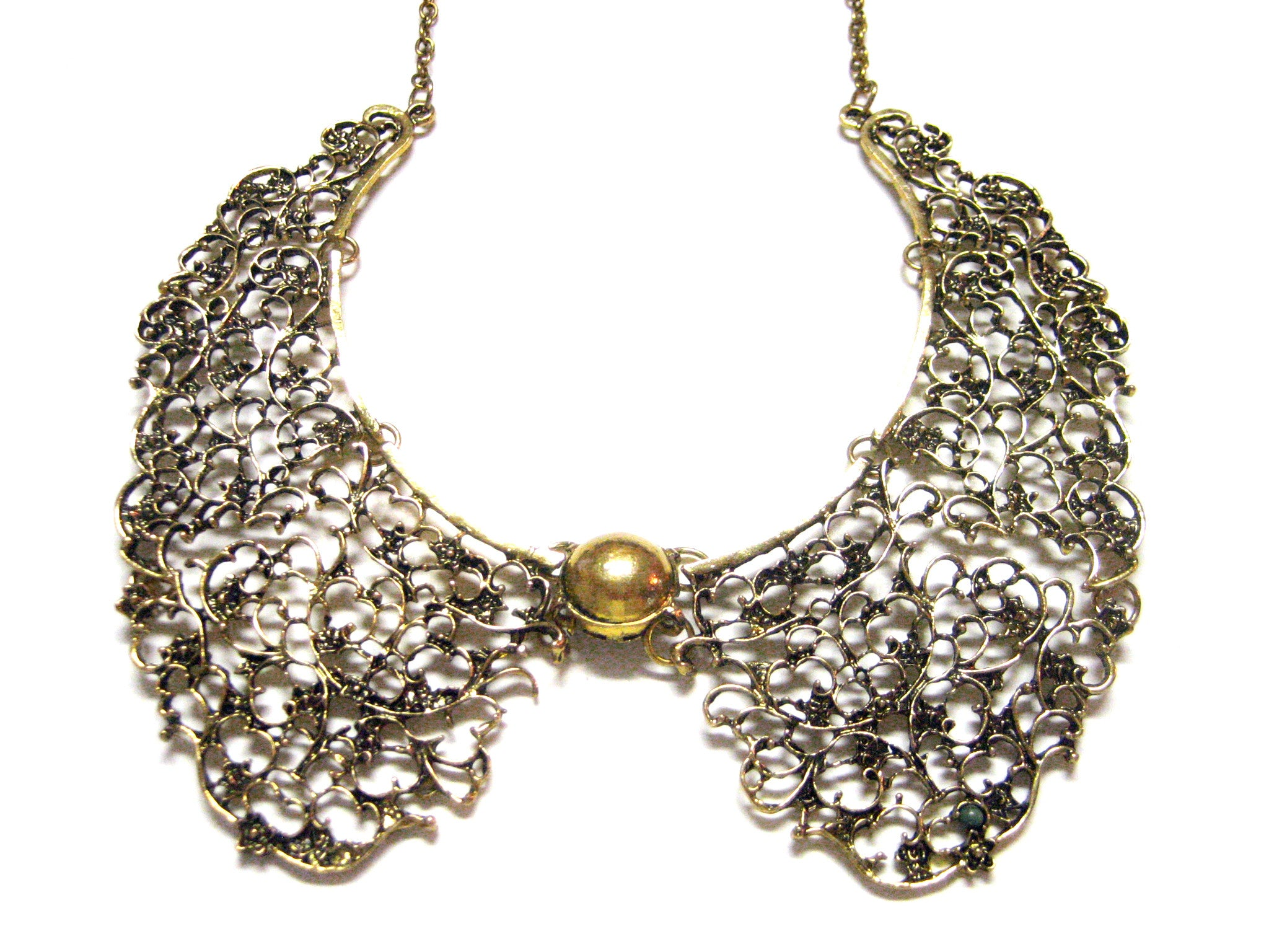 Bronze Toned Collar Pendant Necklace