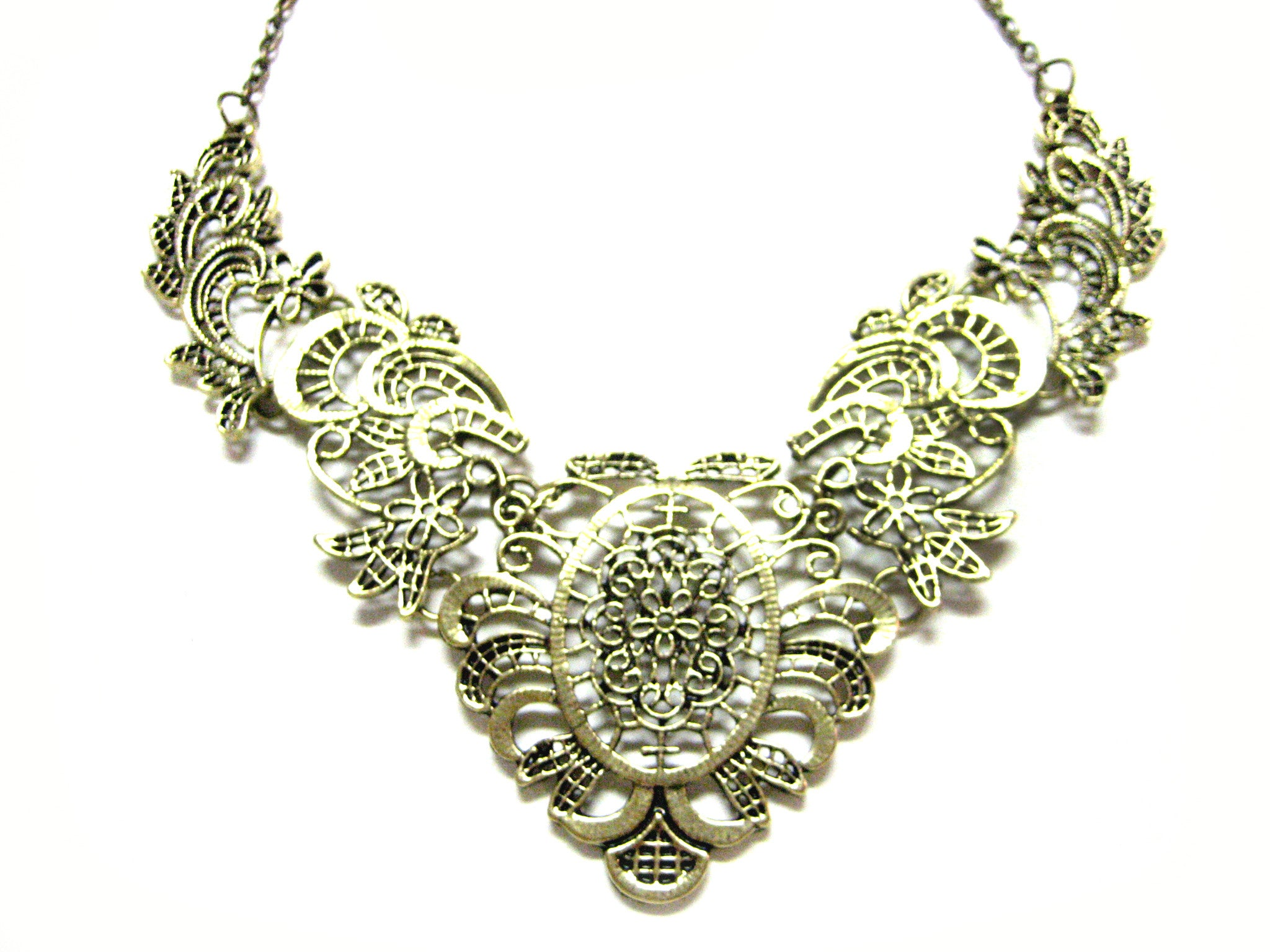 Bronze Toned Intricate Fashion Necklace