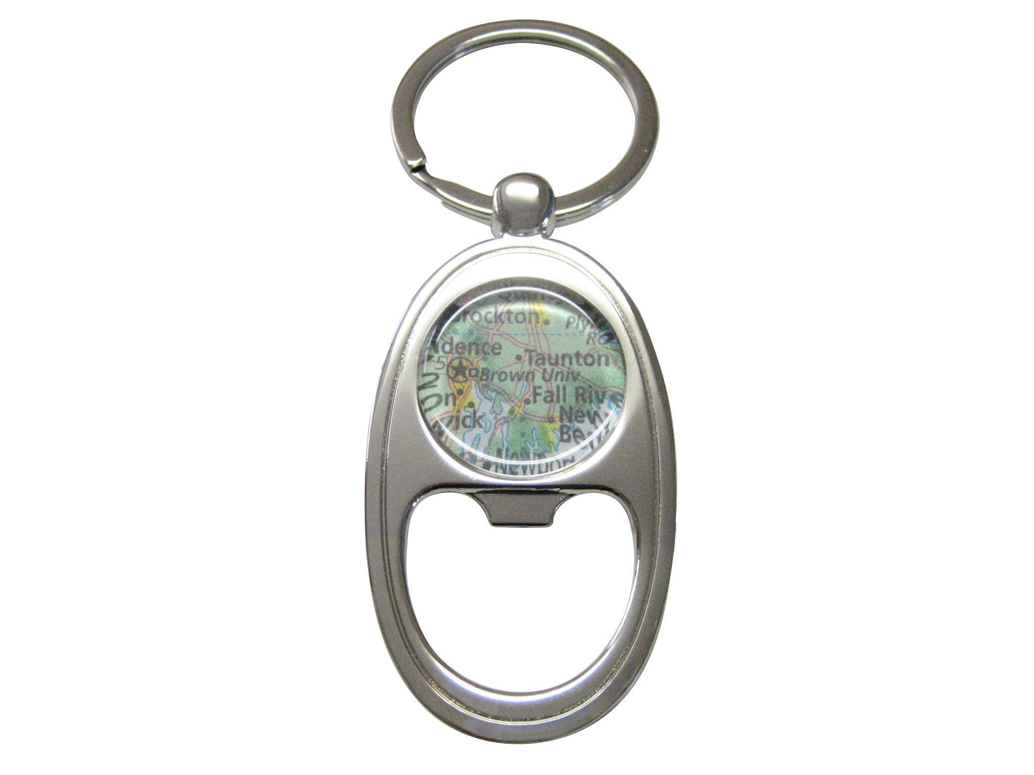 Brown University Map Key Chain Bottle Opener