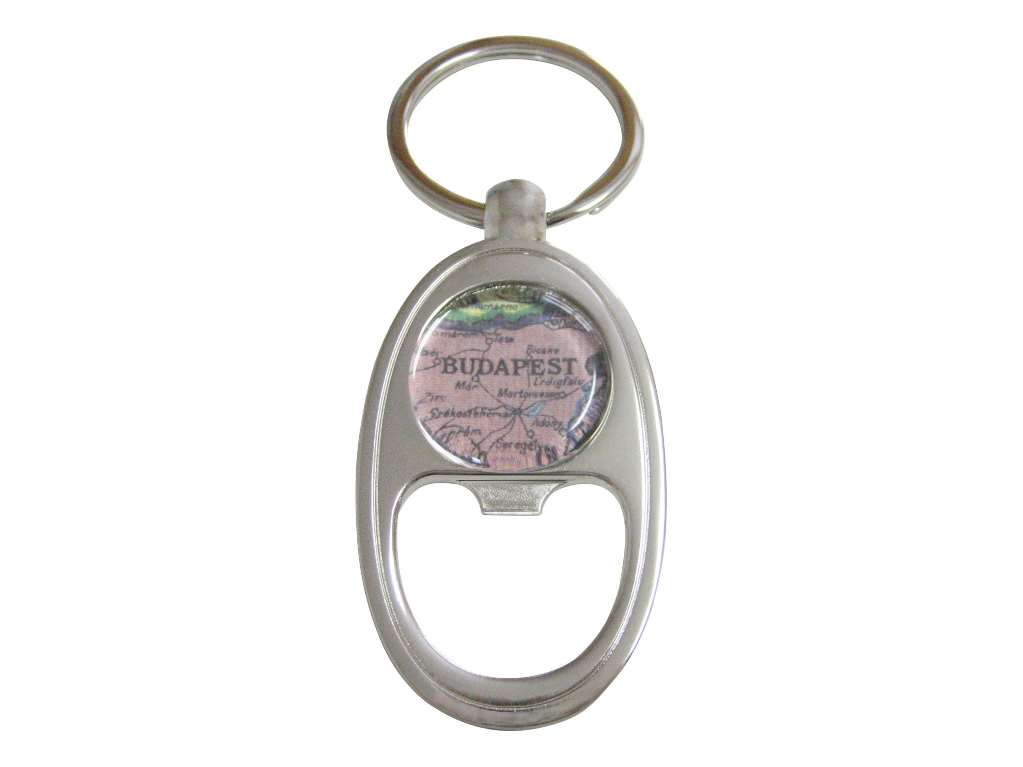 Budapest Map Key Chain Bottle Opener