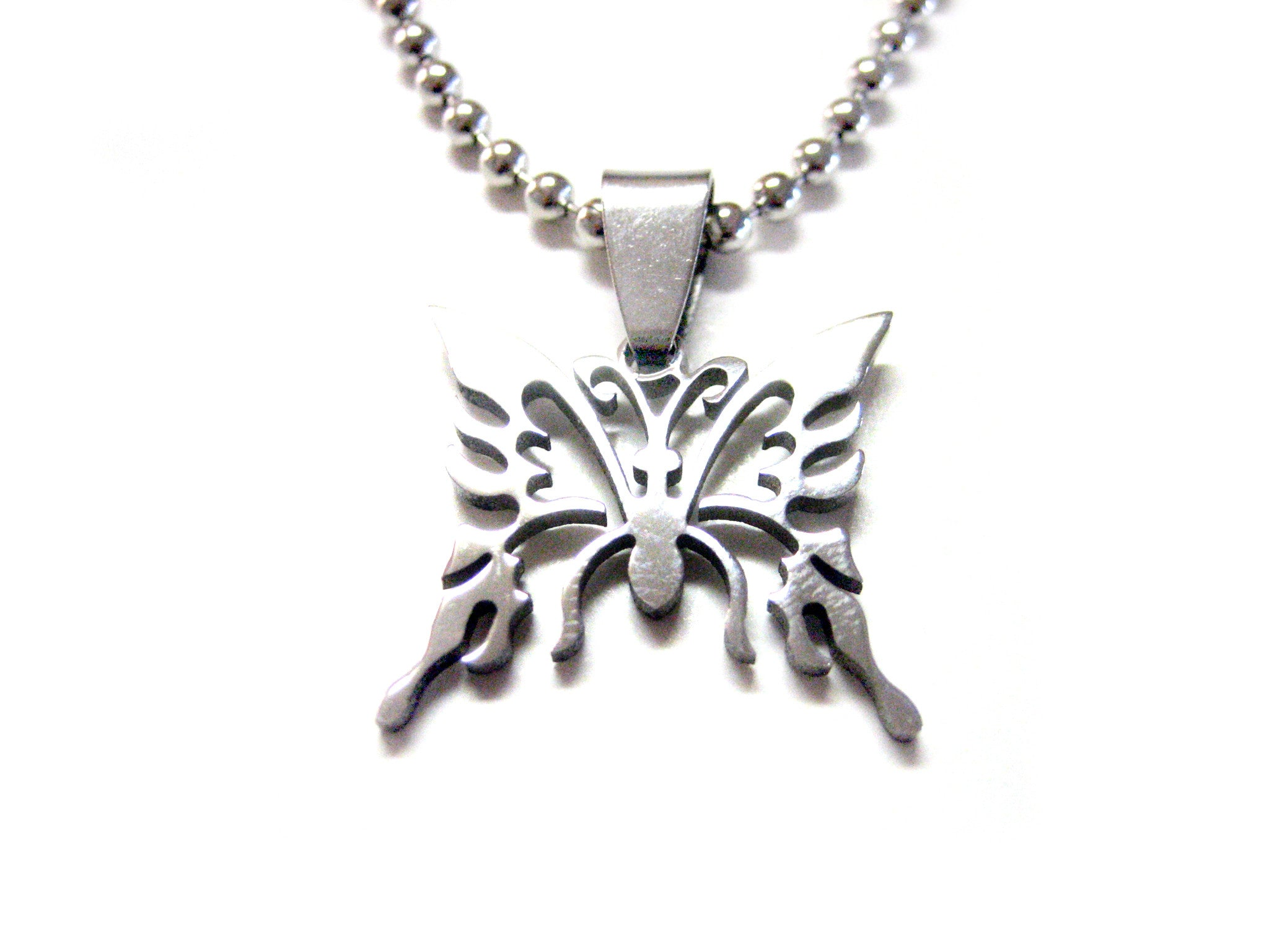 Butterfly Metal Cut Out Necklace