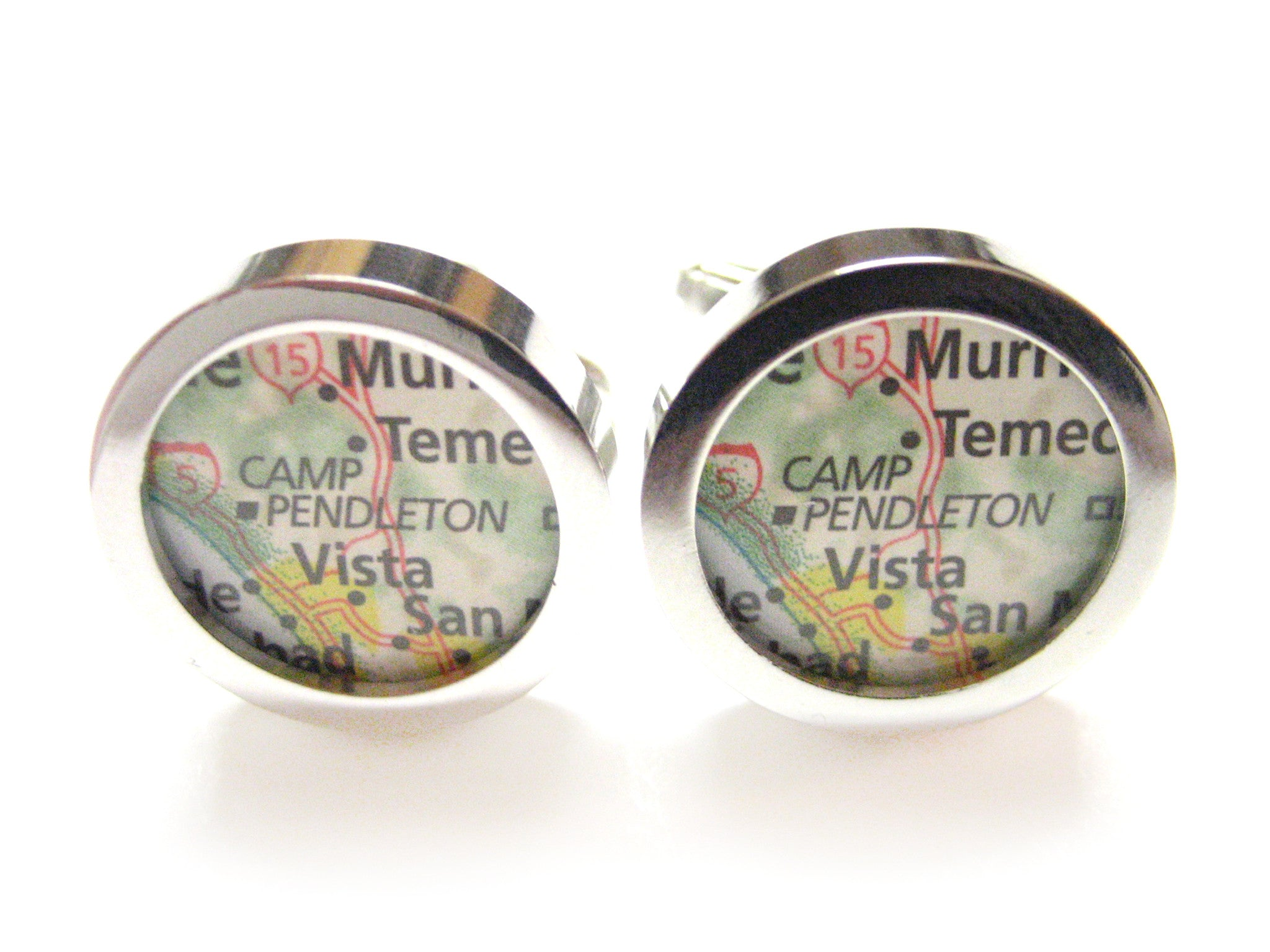 Camp Pendleton Map Cufflinks