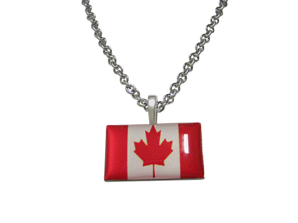 Canada Flag Pendant Necklace