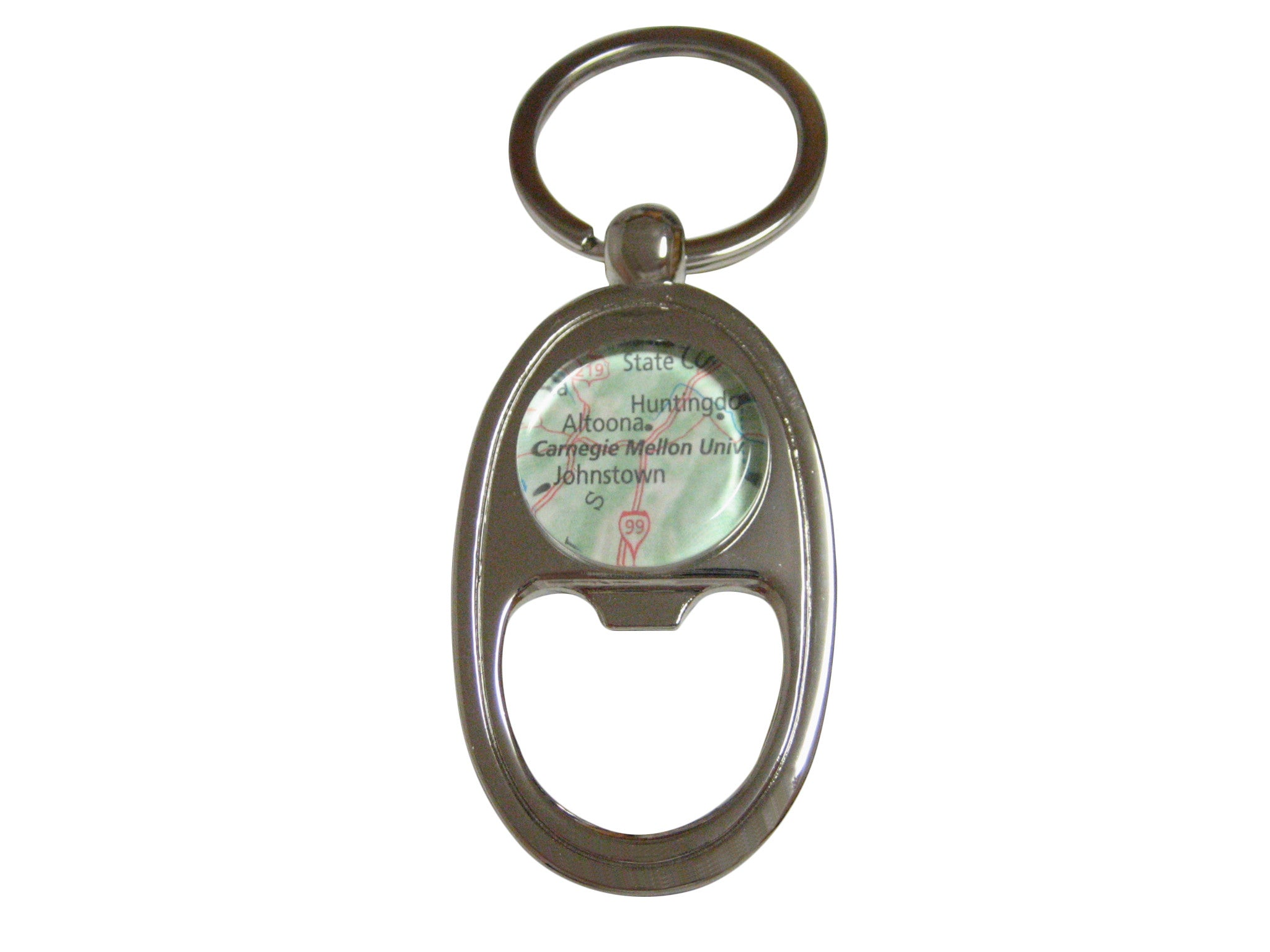 Carnegie Mellon University Map Key Chain Bottle Opener