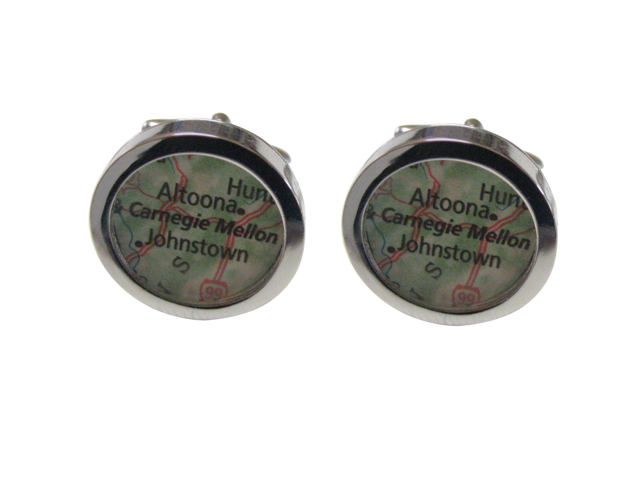 Carnegie Mellon University Map Cufflinks