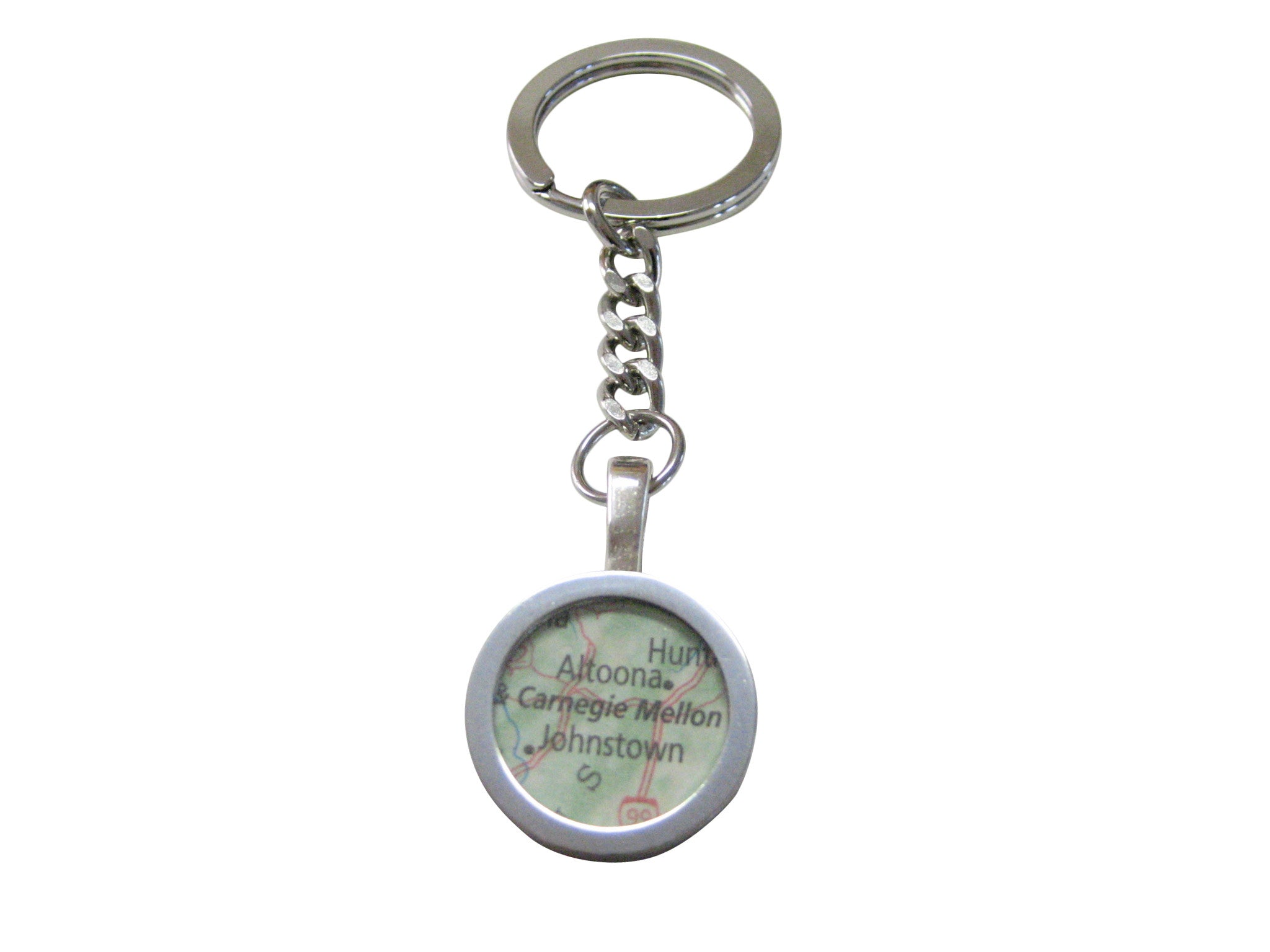 Carnegie Mellon University Map Pendant Keychain