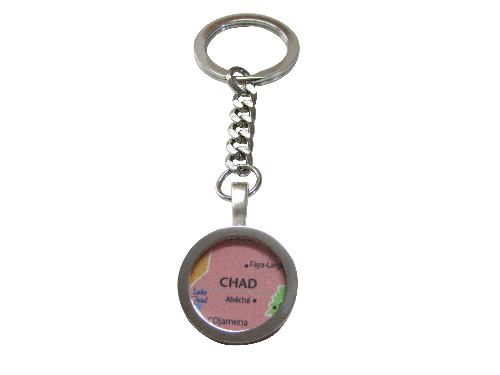 Chad Map Pendant Keychain