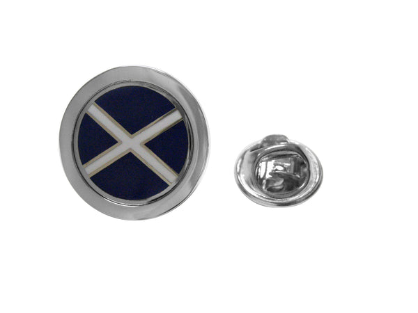 Circle Scottish Flag Design Lapel Pin