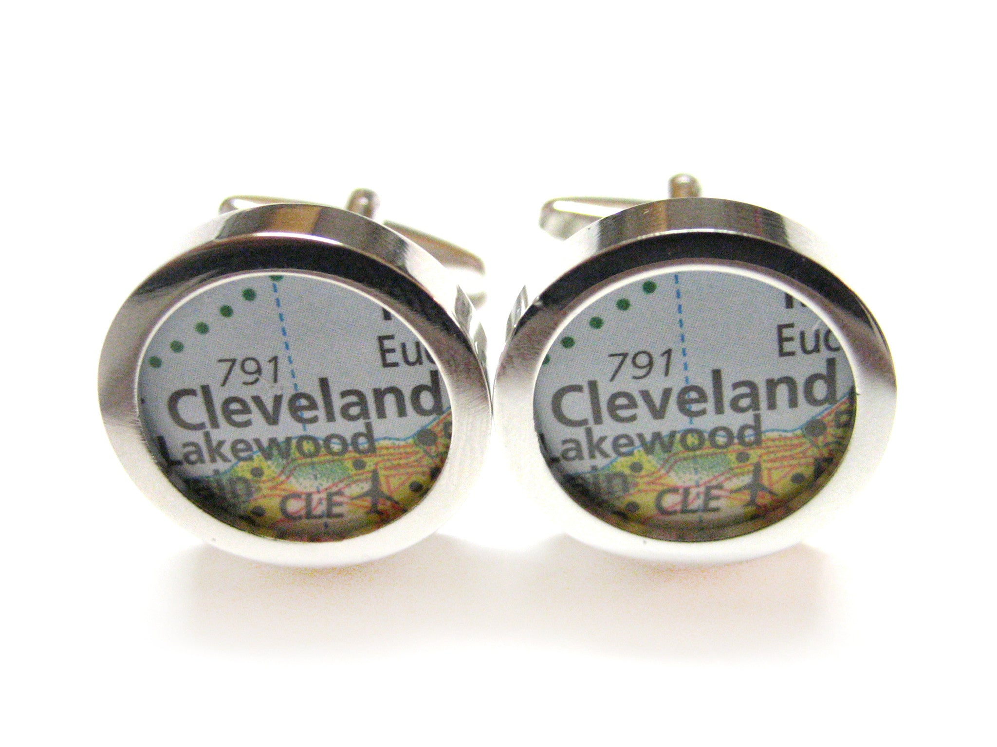Cleveland Ohio Map Cufflinks