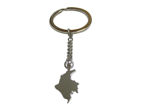 Colombia Map Shape Pendant Keychain