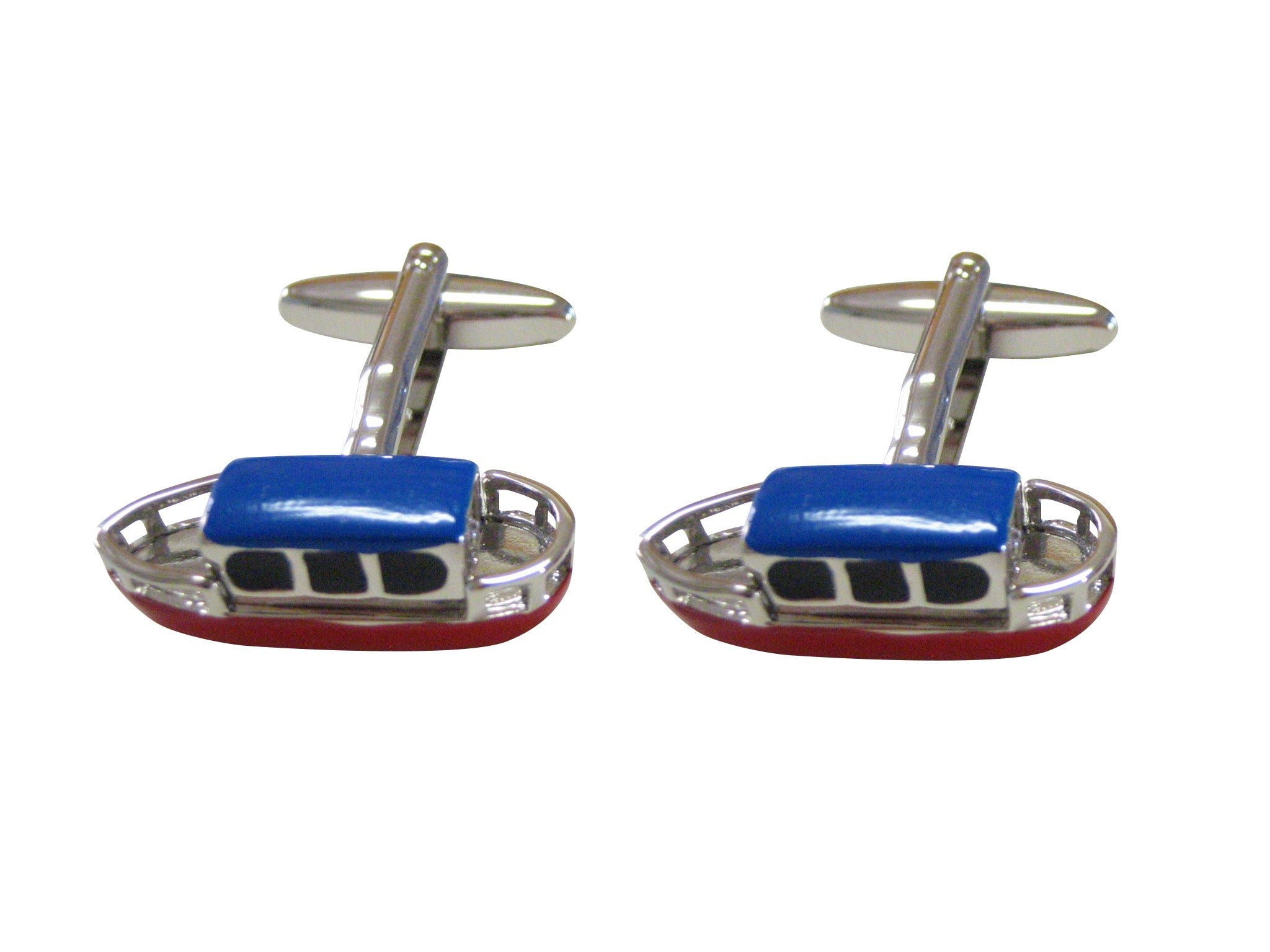 Colored Canal Boat Cufflinks