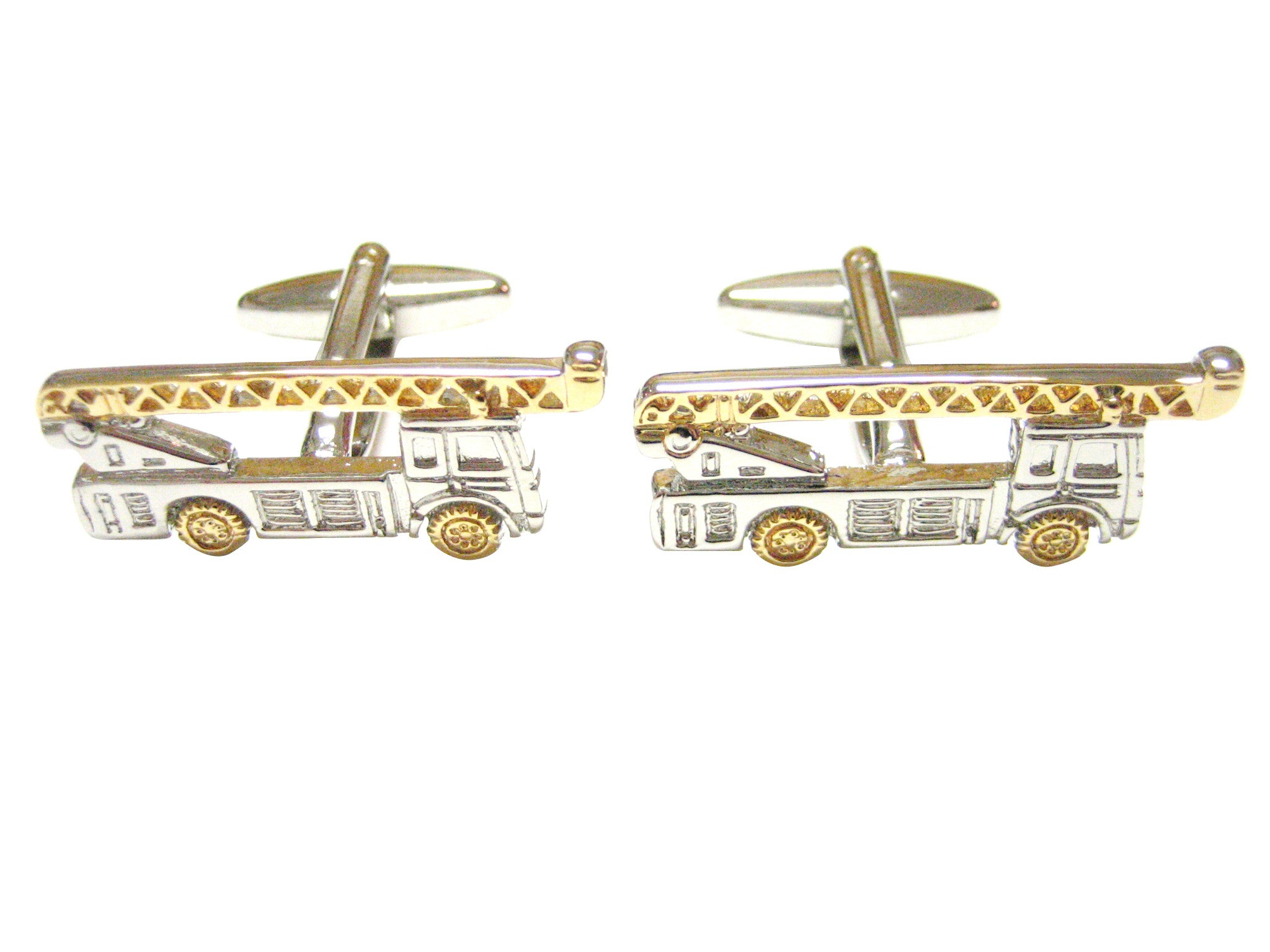 Construction Crane Truck Cufflinks