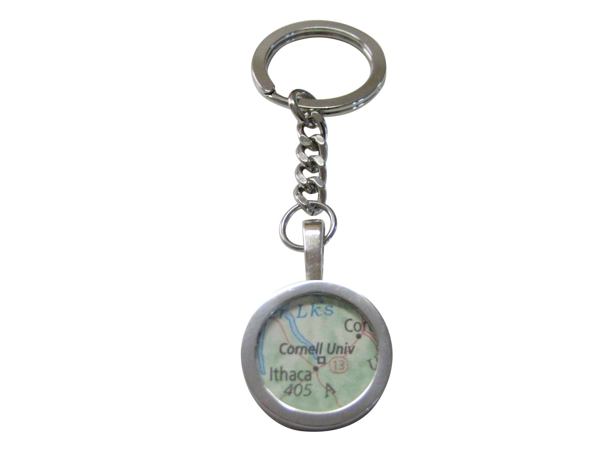 Cornell University Map Pendant Keychain