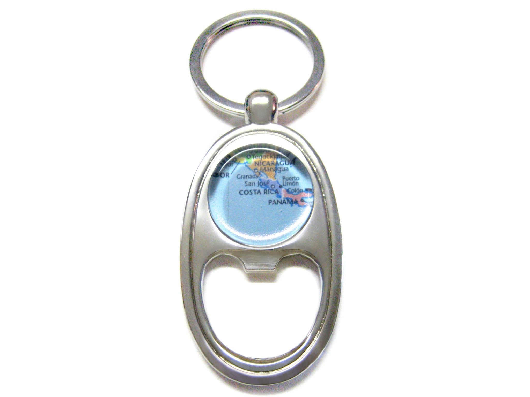 Costa Rica Map Bottle Opener Key Chain