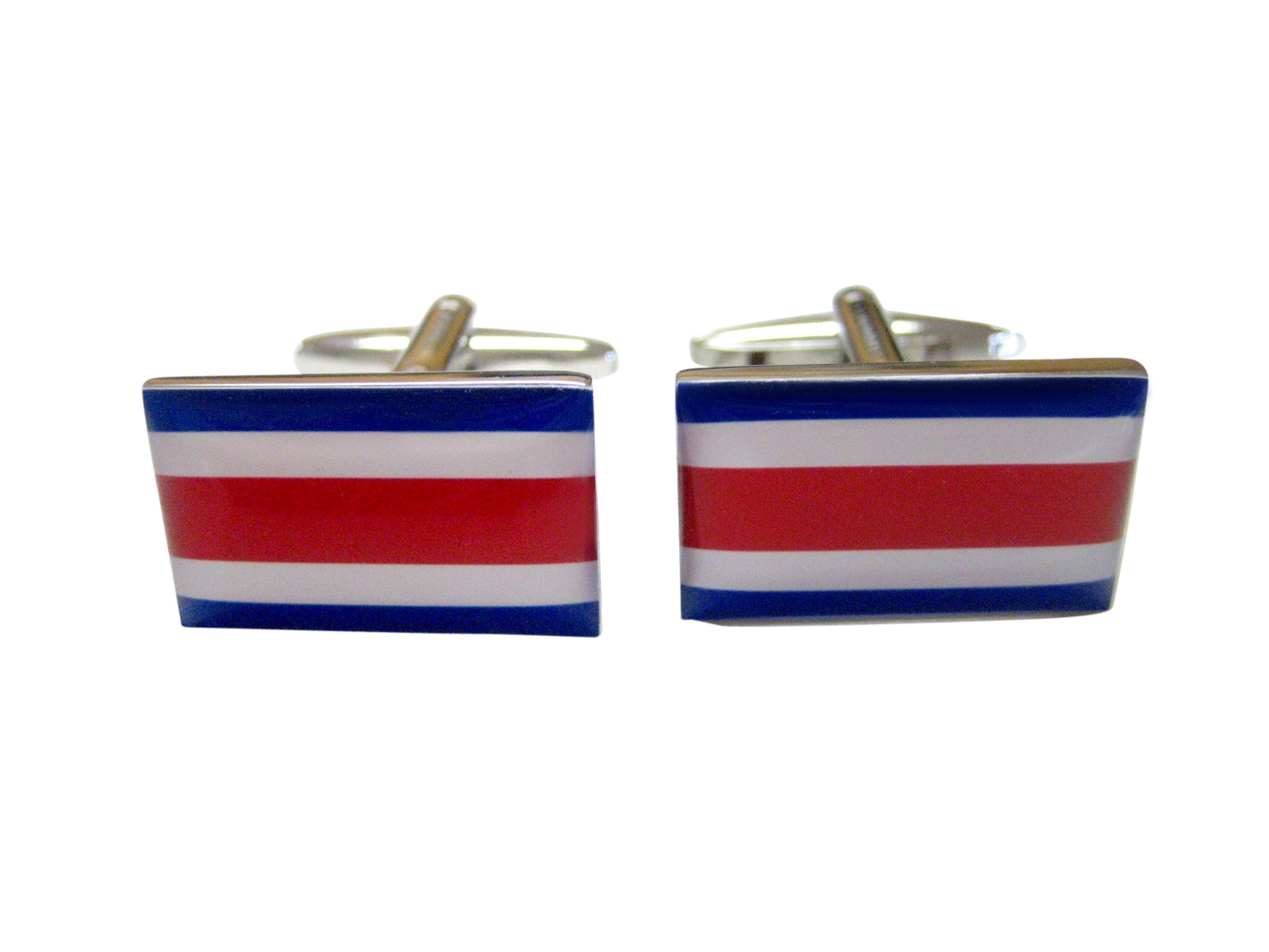 Costa Rica Flag Cufflinks