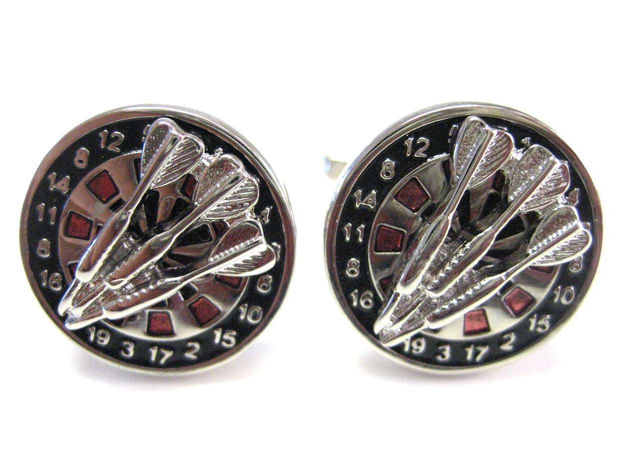 Dart and Dart Board Cufflinks