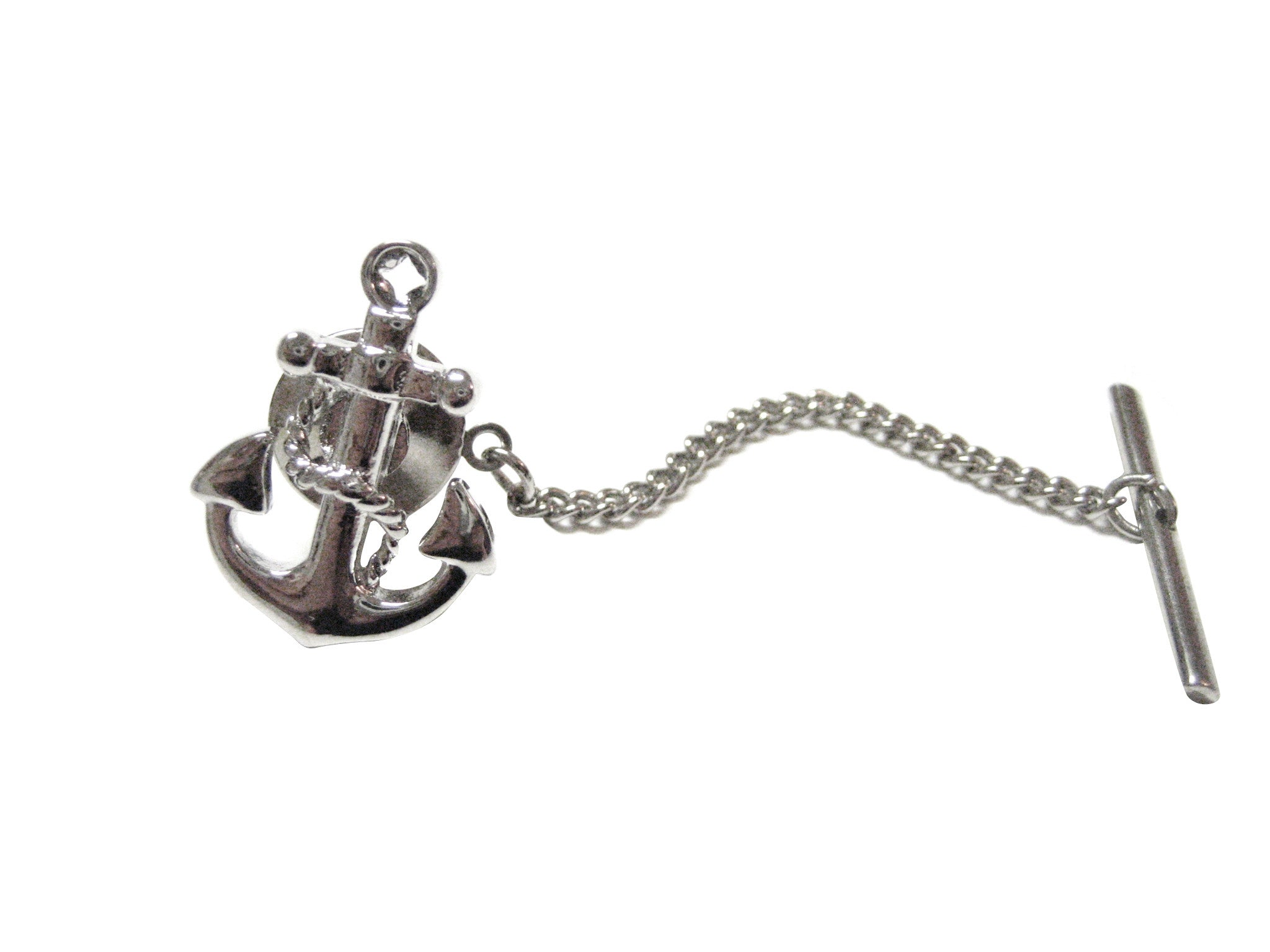 Detailed Nautical Boat Anchor Tie Tack