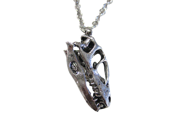 Dinosaur Fossil Skeleton Pendant Necklace