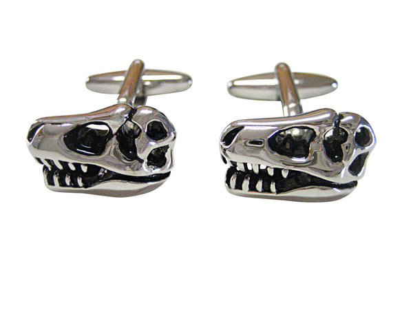 Dinosaur Skeleton Fossil Head Cufflinks